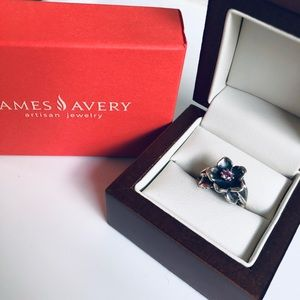 James Avery pink sapphire flower ring